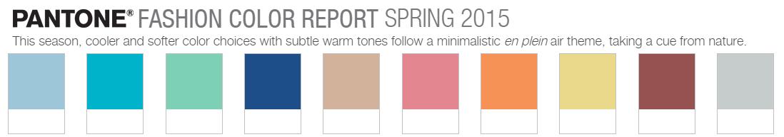 paleta colores pantone primavera 2015 bitacora grafica